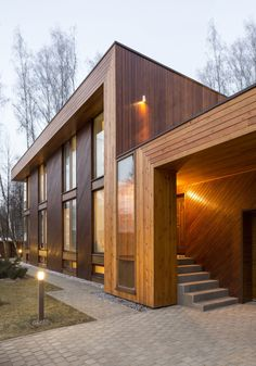 House in Birch Forest #architecture