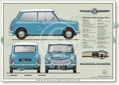 Automobiles 2 - Morris Mini-Minor 1959 to 61 (basic) Mini Cooper Classic, Mini Cooper S, Classic Mini, Mini Morris, Austin Cars, Automobile, British Sports Cars, Classic Mercedes, Classic Motors