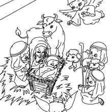 dibujo para colorear escena del belen navideo dibujos para colorear y pintar dibujos para