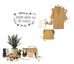"""""""Autumn needs to arrive~"""" by brendafufu ❤ liked on Polyvore featuring PLANT, Monki, Accessorize, Nearly Natural, H&M, Melissa, Kendra Scott, Devon Pavlovits, Chloé and Parisian"""