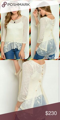 COMING SOON! Beige Beauty Beige blouse with lace layer details. More info soon. Like this listing to be notified when they arrive via price drop! :) Tops Blouses