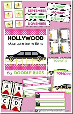 Hollywood theme for classroom