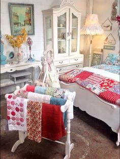 Beautiful bed linen and furniture