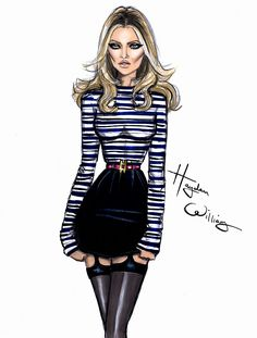 Hayden Williams Fashion Illustrations: Kate Moss by Hayden Williams