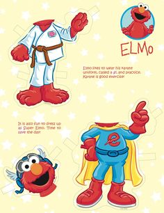 elmo paper doll costume1