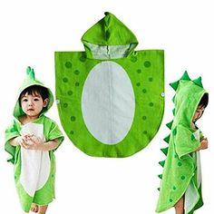 Kids Hooded Towels, Hooded Bath Towels, Cape Bebe, Dinosaur Party Supplies, Kids Robes, Dinosaur Pattern, Baby Towel, Cute Baby Boy, Sewing For Kids