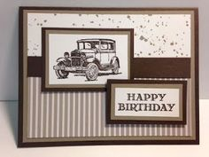 Guy Greetings, Masculine Birthday Card, Stampin' Up!, Rubber Stamping, Handmade Cards