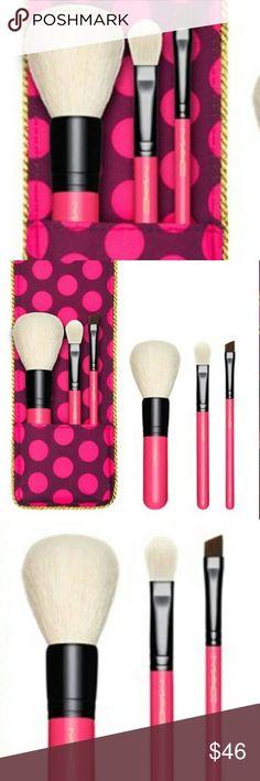 mac brush set product 7pcs makeup brush set with leather bag 1 pcslot makeup products