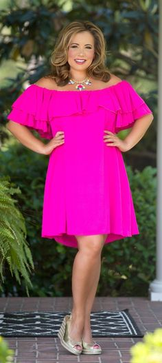 Summer Sizzle Dress - Hot Pink - Perfectly Priscilla Boutique
