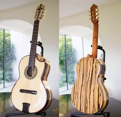 Black & White Ebony B&S Concert Classical Guitar
