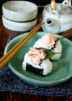 Salmon Rice Balls, Onigiri 鮭と大葉のおにぎり