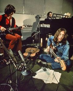 George Harrison, Paul McCartney & John Lennon, 1969George Harrison, Paul McCartney & John Lennon, 1969
