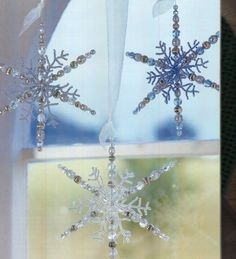 Large Beaded Snowflake inspiration
