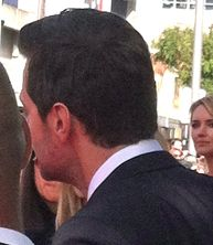 The back of the neck. One of the sexiest parts of a man's body. ROWR! Richard Armitage. ROWR! :-)
