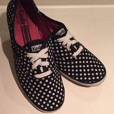 Polka Dot Keds Adorable black & white polka dot Keds. These have been loved shoes so there is a little wear (see pictures), but they still have a lotta kick left in them. They're very clean - no foot odor at all  keds Shoes