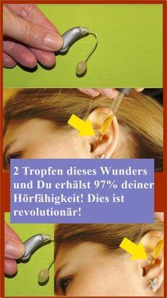 2 Tropfen dieses Wunders und Du erhälst 97% deiner Hörfähigkeit! Dies ist revolutionär! | njuskam! Chronischer Stress, Varicose Veins, Beauty Box, Health Fitness, Vegan, Hacks, Natural, Medicine, Chinese Food