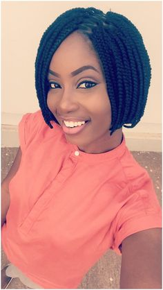 #Hair #BoxBraid Short Box Braids. Bob Cut click for more info..