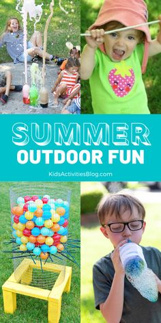 100  summer ideas to get kids active and break through boredom! Screen-free fun with activities for children of all ages. Play inside or head outdoors into the sunshine to complete the ultimate summer bucket list!