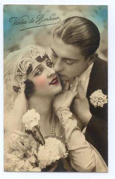 Wedding postcard, 1920s.: