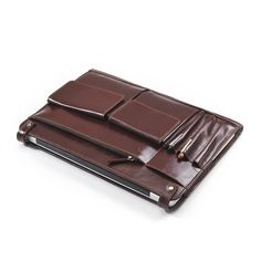 Brown Leather MacBook Clutch Carrying Case With iPad and iPhone Pocket | iCarryalls Leather Fashion
