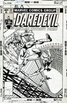 the cover to Daredevil (1964) #161 by Frank Miller and Klaus Janson