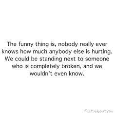 True. Also hard to remember when going about my own life. Sorry /:
