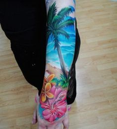 Tattoo of Beach