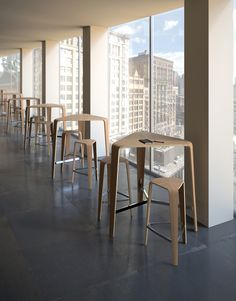 Tre Bar Table from Davis Furniture - new for #NeoCon15