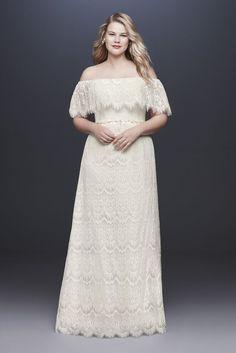 866f014caf46 Off-The-Shoulder Eyelash Plus Size Wedding Dress Style 9WG3892, Ivory, 24W