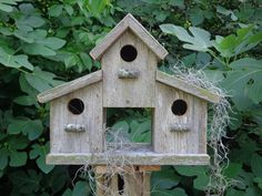 Weathered Cedar Barn Style Birdhouse by SwampwoodCreations on Etsy