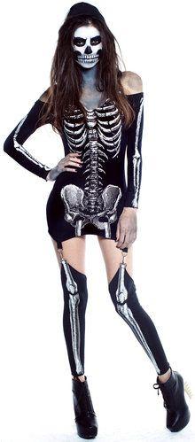 x-rayed skeleton costume