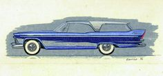 John Samsen - 1957 PLYMOUTH CABANA  station wagon styling design concept sketch
