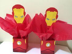 Centro de mesa Homem de Ferro, Iron Man @papelintte Más