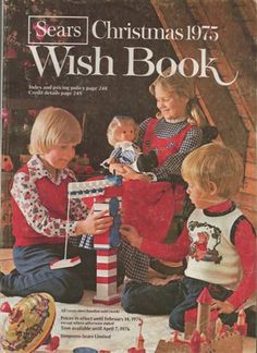 // I remember sitting at the top of our attic steps looking through old Sears Wish Books with my siblings. (Though I don't think they were this old.)  I think it was a shame for Sears and other companies to do away with catalogs like this. #VintageChristmas