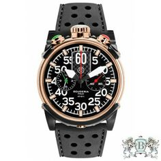 CT Scuderia Saturno 46mm Black Dial Rose Gold IP Stainless Steel Chronograph Men's Watch CS10103