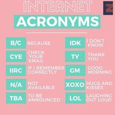 Internet Acronyms