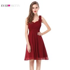 d4de54d64d54  41.58 - Awesome Cocktail Dresses Pink Chiffon Short Elegant Ever Pretty A  Line One Shoulder EP03535