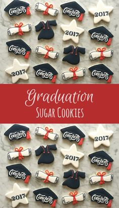 Graduation Sugar Cookies Party Favors Gift Ideas #affiliate