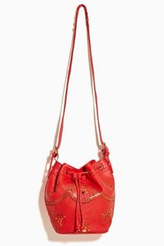 Cruise Control Bucket Bag in Red