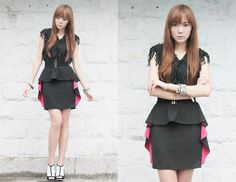 Pop of Pink (by Camille Co) http://lookbook.nu/look/2666763-Pop-of-Pink