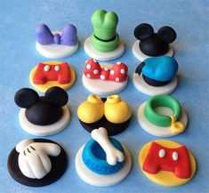 Mickey Mouse themed Cupcake Toppers