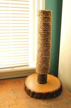 Recycled TreeLimb Cat Scratching Post No. 8 by HagendorfOriginals, $80.00