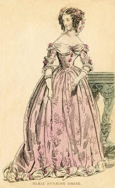 Antique Paris Fashion Image - Vintage Fashion Cards - Costumes - The Graphic Fairy Victorian Women, Victorian Fashion, Vintage Fashion, French Fashion, Fashion Images, Fashion Pictures, Mode Vintage, Vintage Ladies, Vintage Gowns