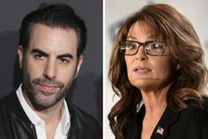 Sacha Baron Cohen's Showtime Series Character Rebuts Sarah Palin Showtime Series, Sacha Baron Cohen, Sarah Palin, Character, Men, Lettering