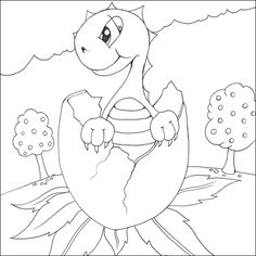 Baby Dinosaur Coloring Pages for Kids | Dinosaurs Pictures and Facts