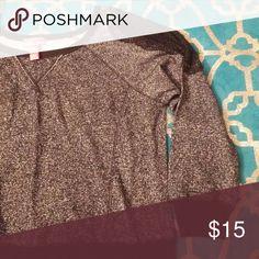 Mix & Co Lace shoulder Grey n Black Sweater Sweaters Crew & Scoop Necks