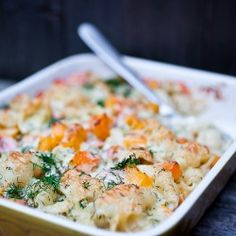 Macaroni and Gruyère Cheese with Butternut Squash, Smoked Salmon and Dill.A more sophisticated version of Tuna noodle casserole Salmon Recipes, Seafood Recipes, Cooking Recipes, Healthy Recipes, Seafood Diet, Pasta Recipes, Vegetarian Recipes, Mac And Cheese Casserole, Macaroni And Cheese