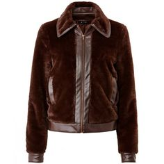Cropped Faux Leather Blouson Jacket R edition (Chocolate)