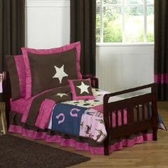 Because even cowgirls need to take naps too! Toddler Bedding Girls   Cowgirl Bedding   Pink & Brown   Free Shipping and only $99.99! #SweetJojoDesigns