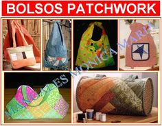 curso bolsos patchworh con moldes y patrones paso a paso